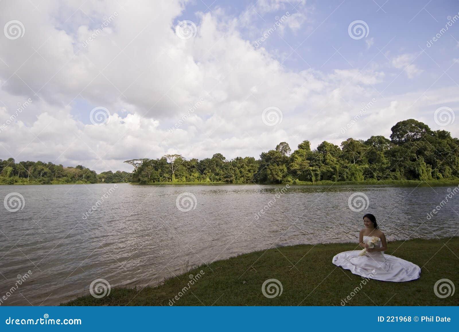 Asian Bride Sits 15