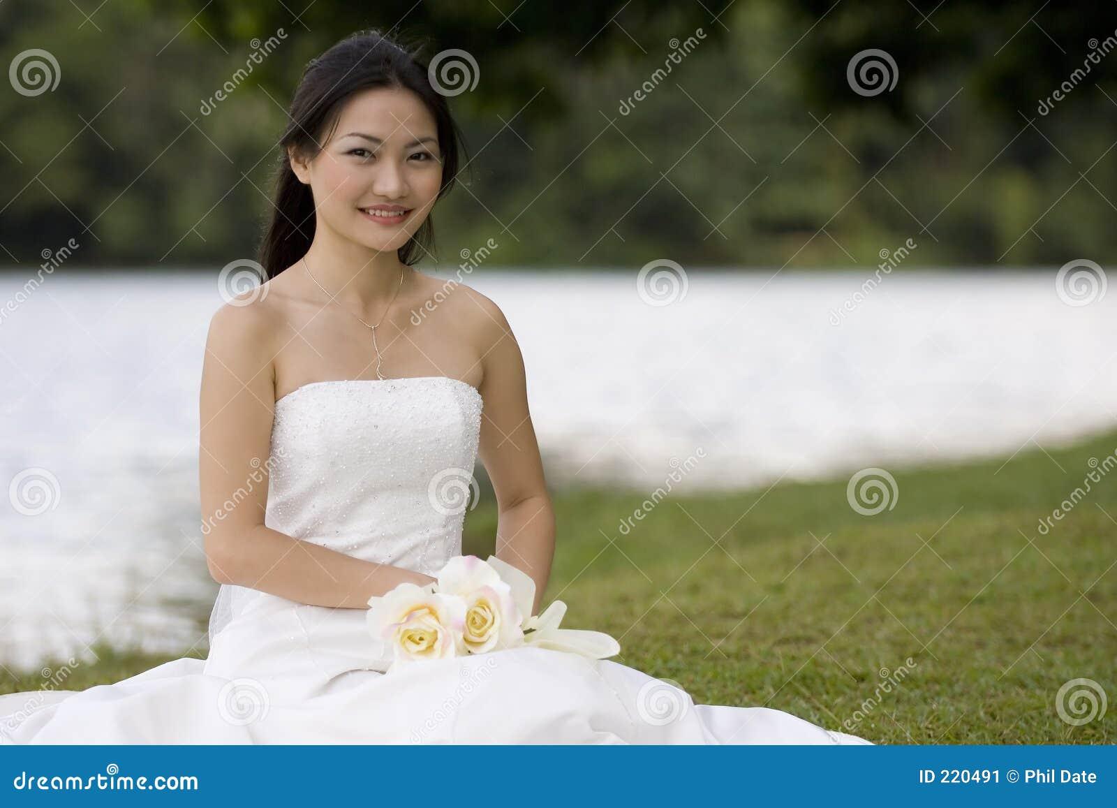Asian Bride Sits 57