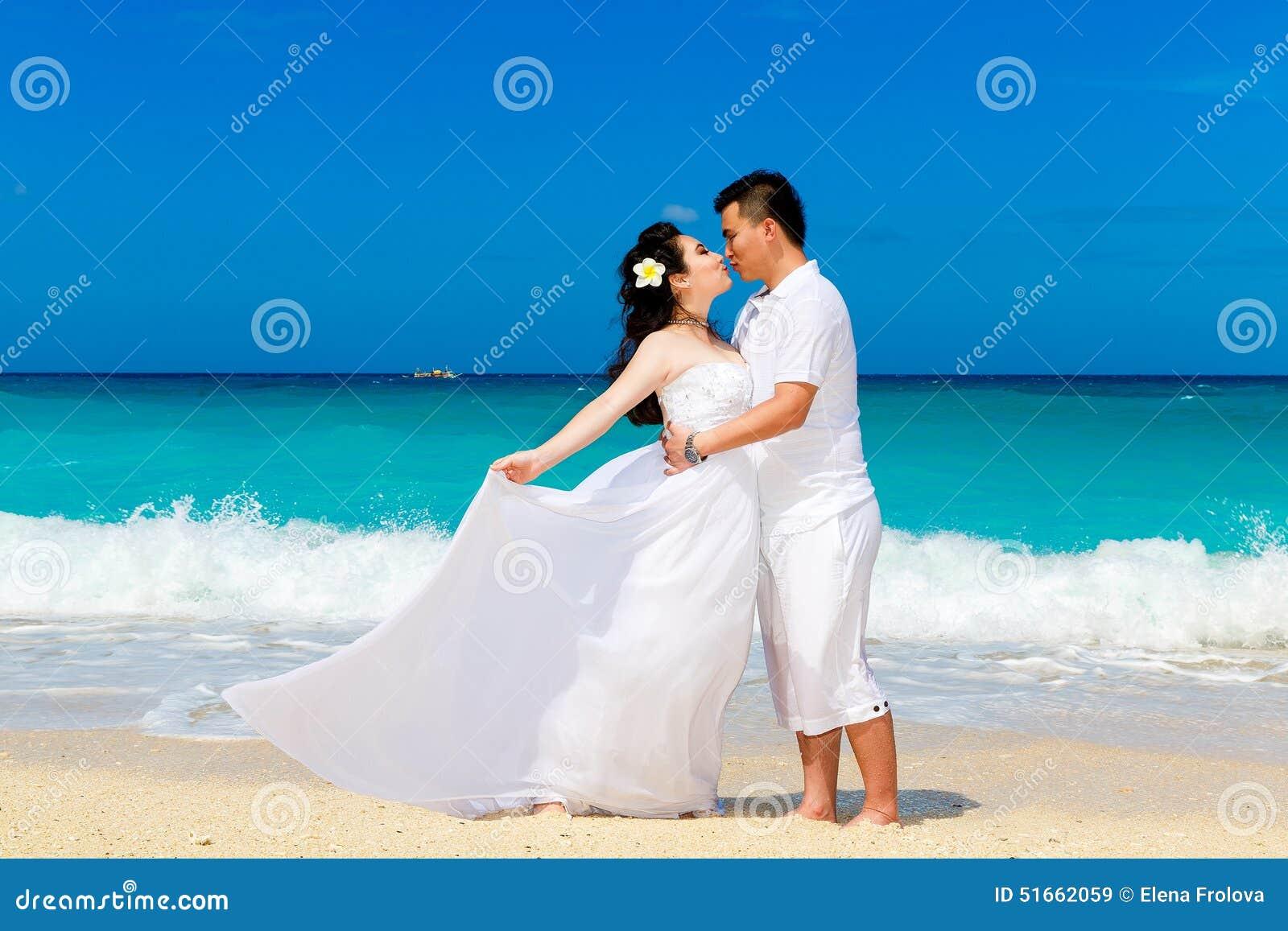 Bride loves asian beach