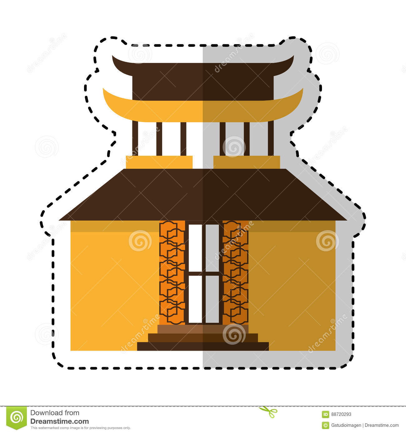 asian building castle icon stock vector - image: 88720293