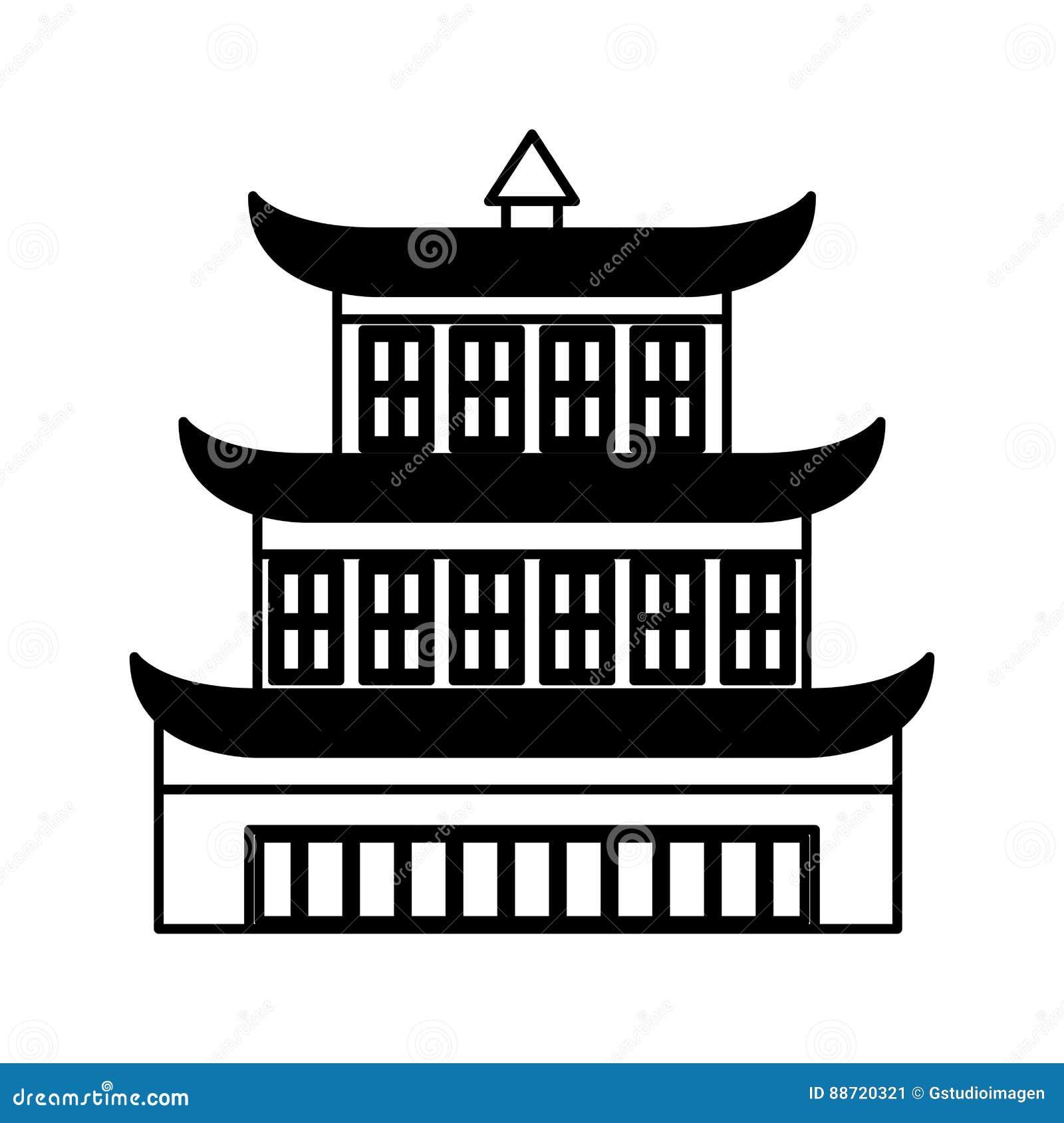asian building castle icon stock vector - image: 88720321