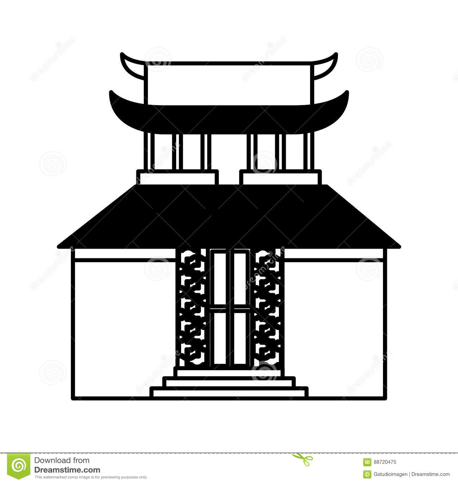 asian building castle icon stock vector - image: 88720475