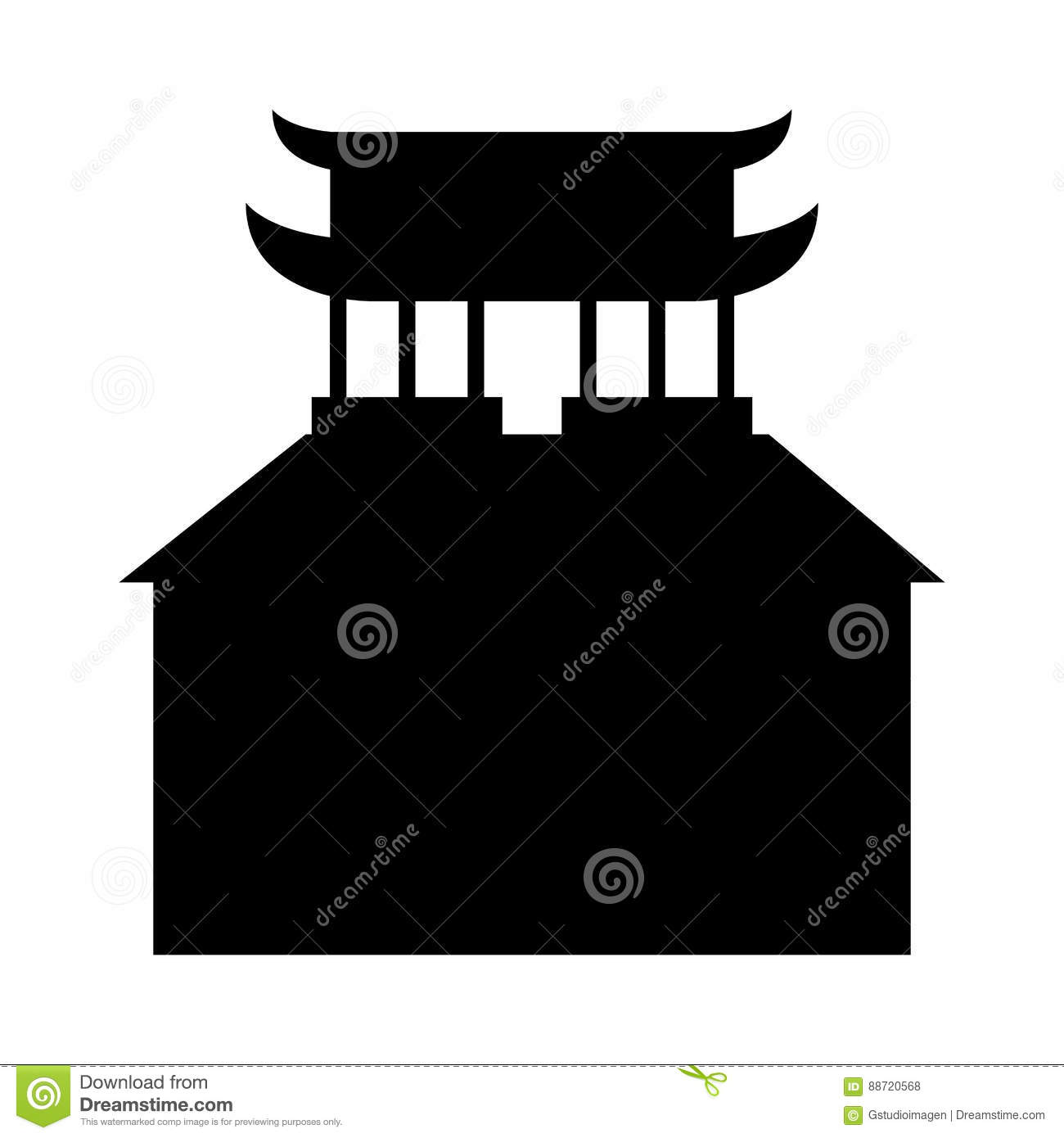 asian building castle icon stock vector - image: 88720568