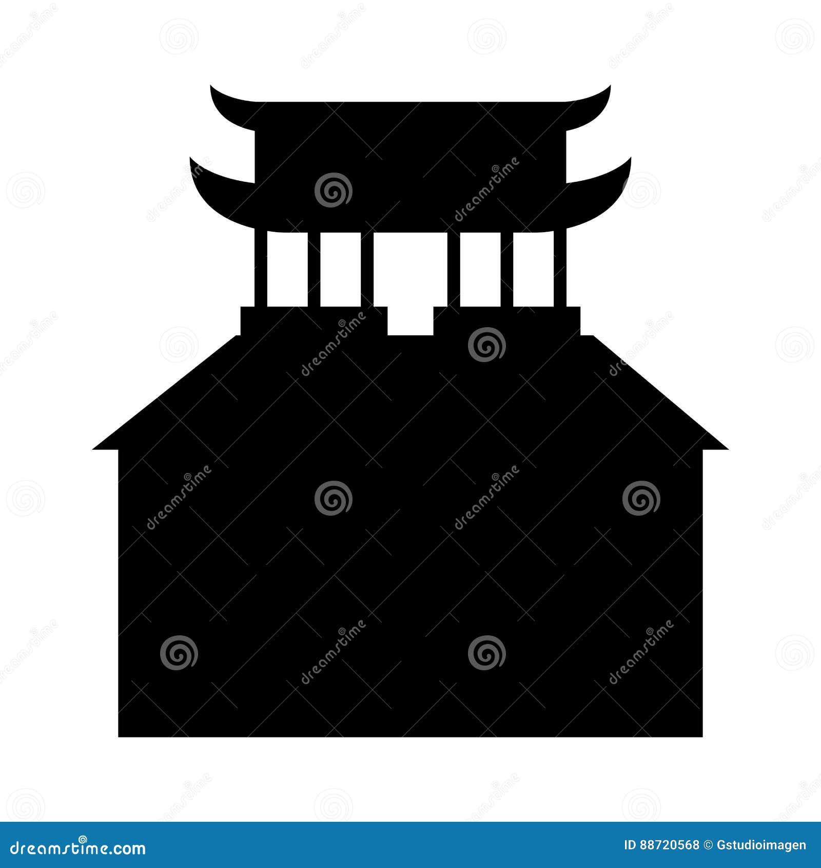 asian building castle icon stock vector - image: 88720568