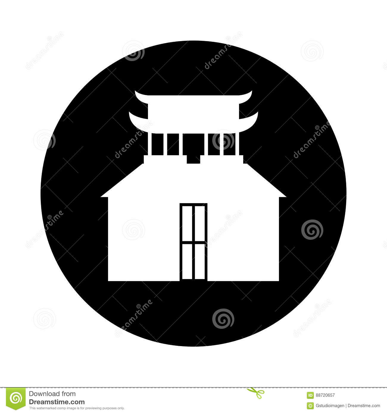 asian building castle icon stock vector - image: 88720657