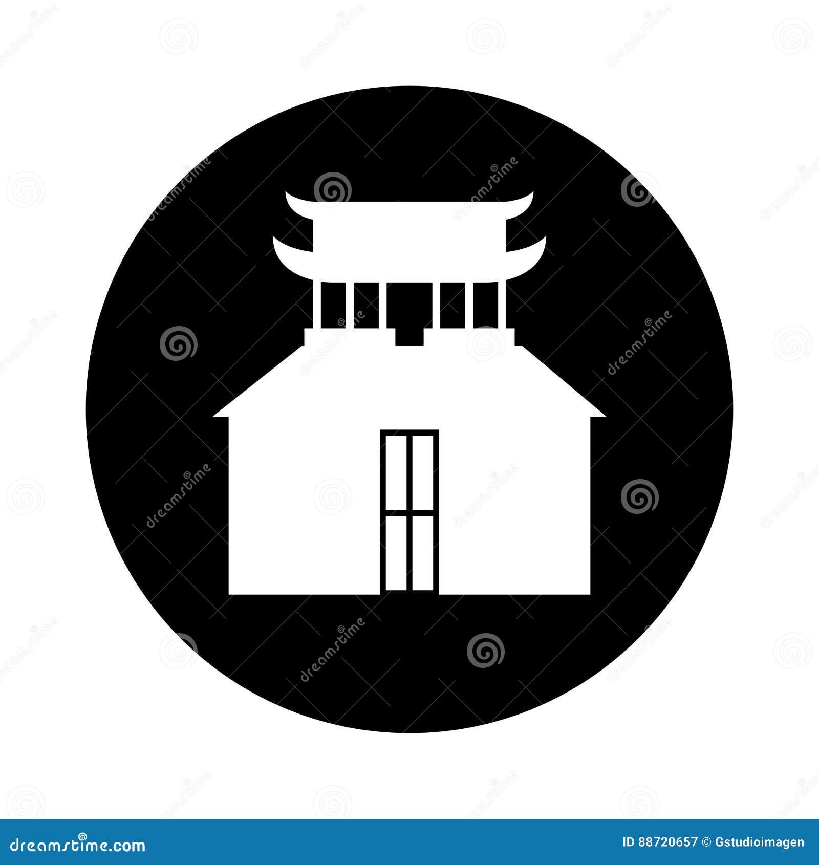 asian building castle icon stock vector - image: 88720657