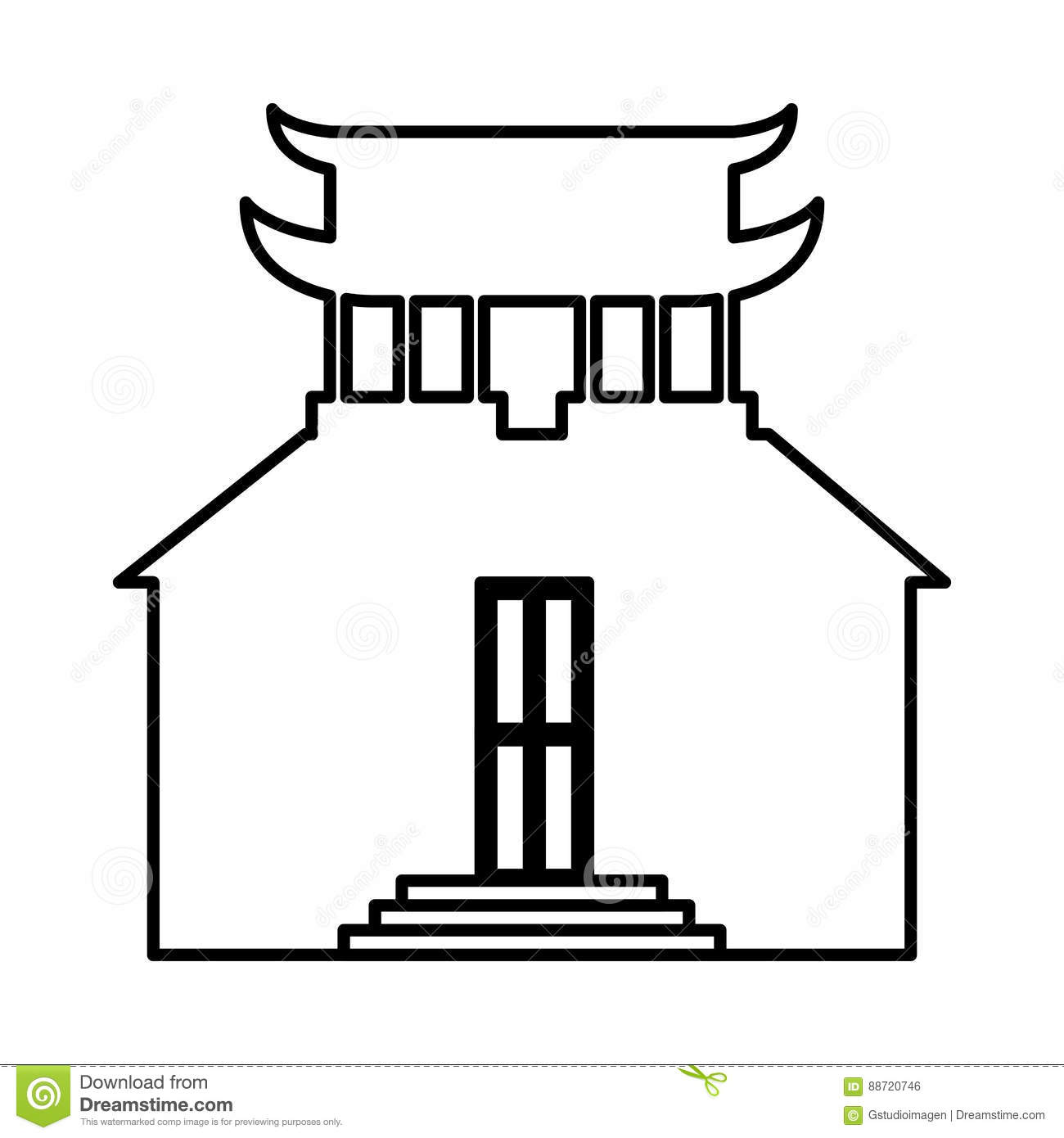 asian building castle icon stock vector - image: 88720746