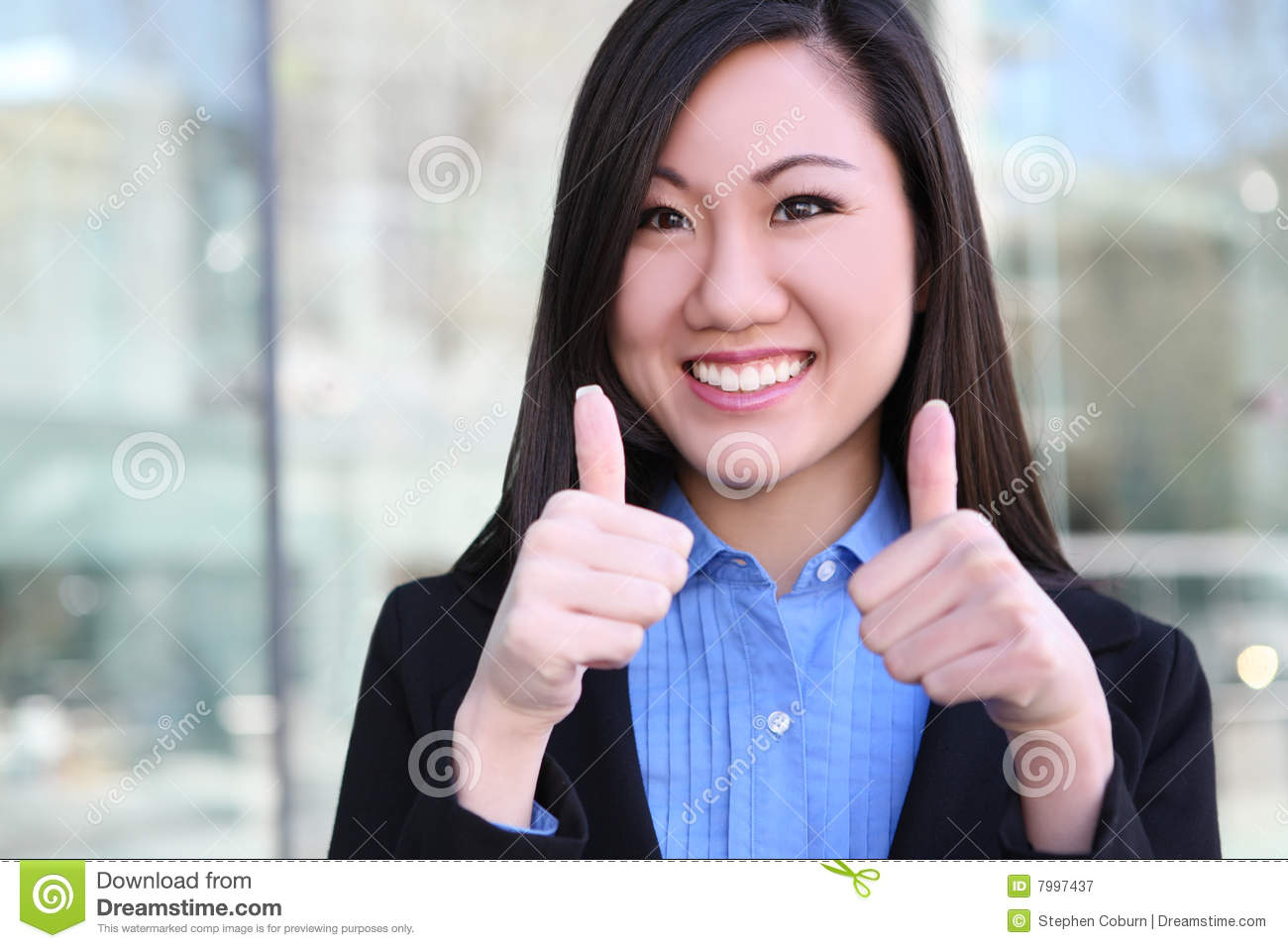 Asian Business Woman Success Royalty Free Stock ...