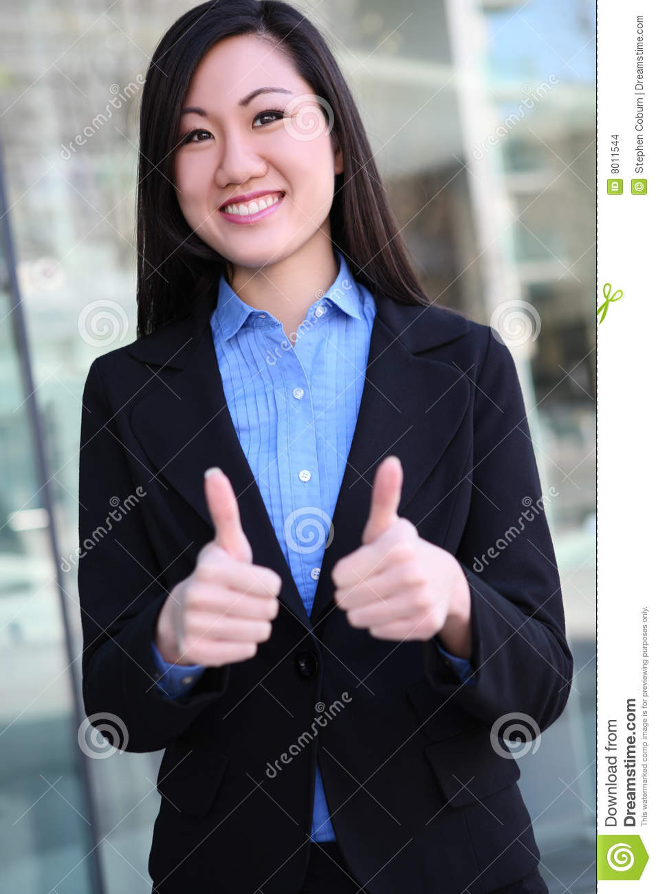 Asian Business Woman Success Stock Images - Image: 8011544