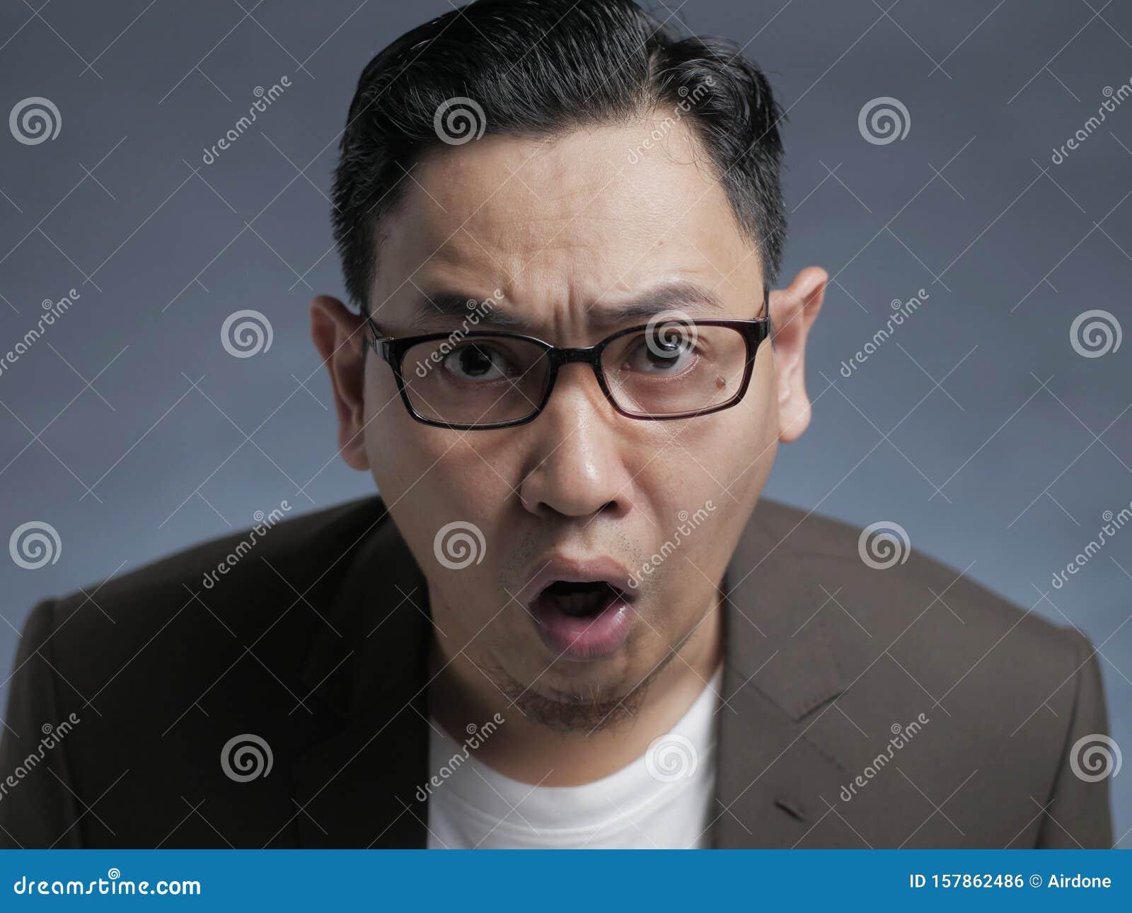 Businessman Shocked Surprised Expression