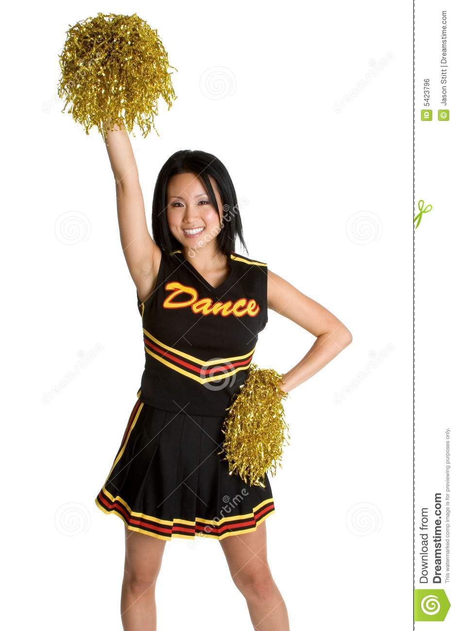 Asian Cheerleader Royalty Free Stock Image - Image: 5423796