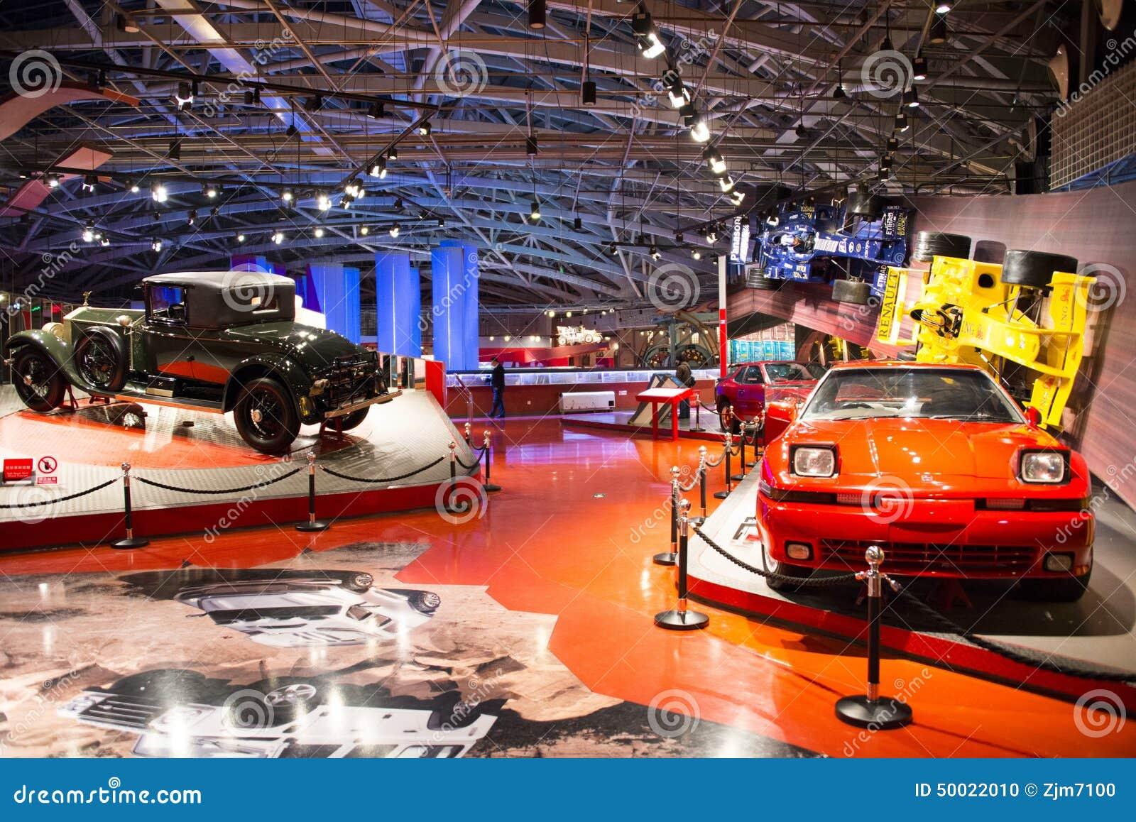 Asian China, Beijing, Automobile Museum,Indoor Exhibition Hall ...