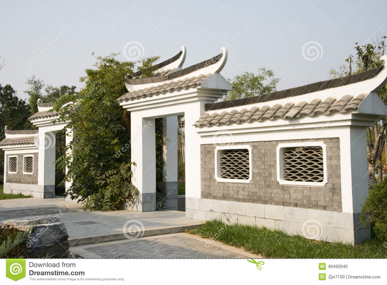 Asian china beijing garden expo antique buildings the for Time saver details for exterior wall design