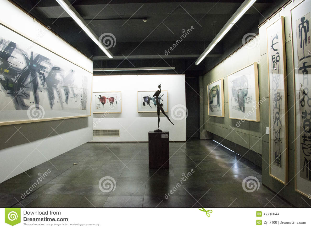 asian chinese beijing han meilin art museum the exhibition hall modern architecture - Modern Architecture Exhibition