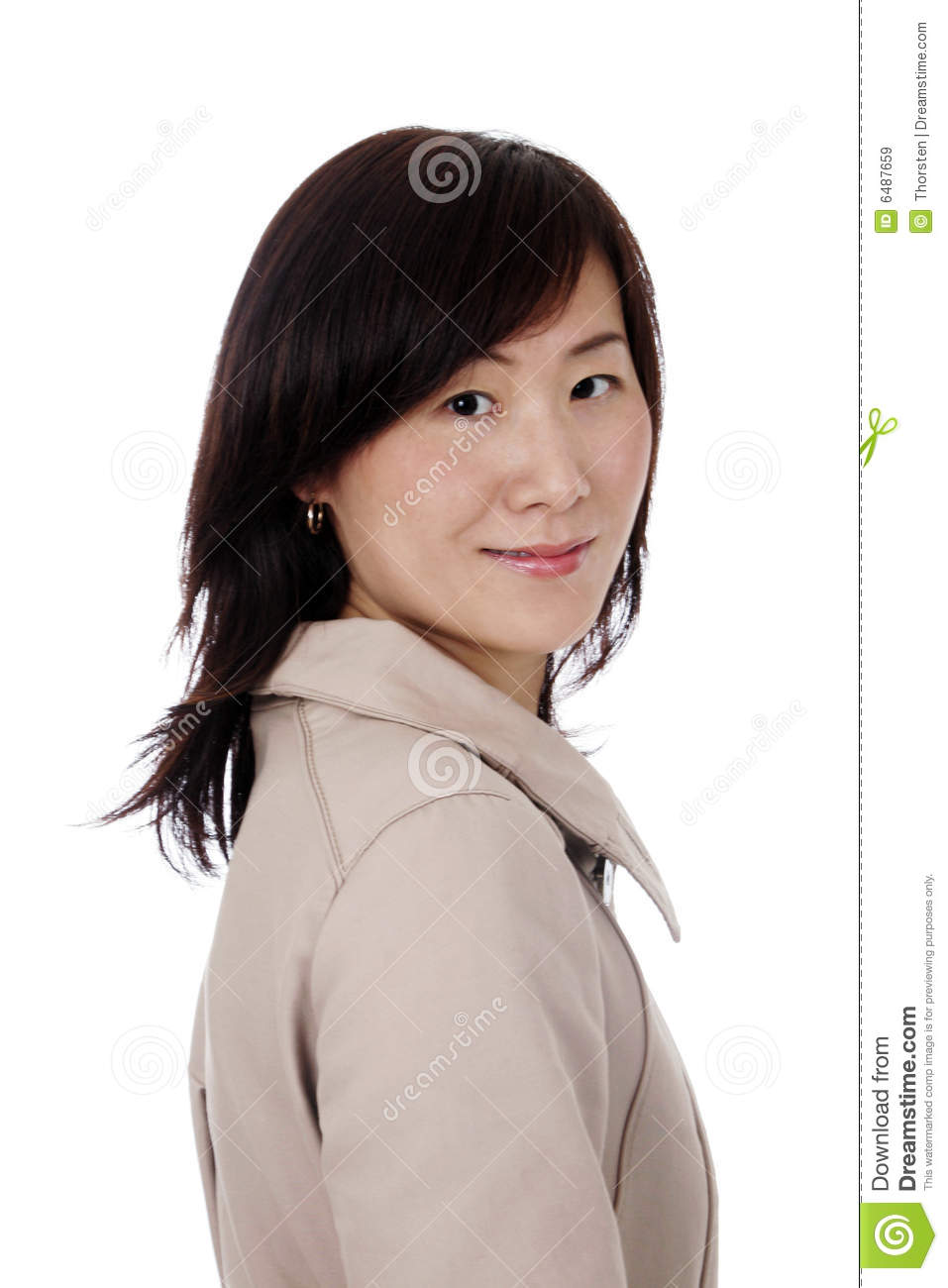 Asian (Chinese) Businesswoman With Coat