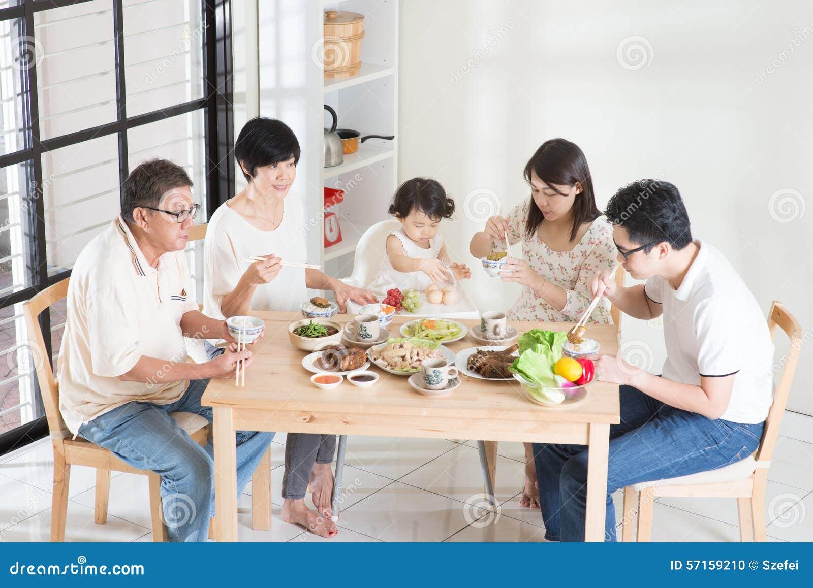 Asian Chinese Family Dinner