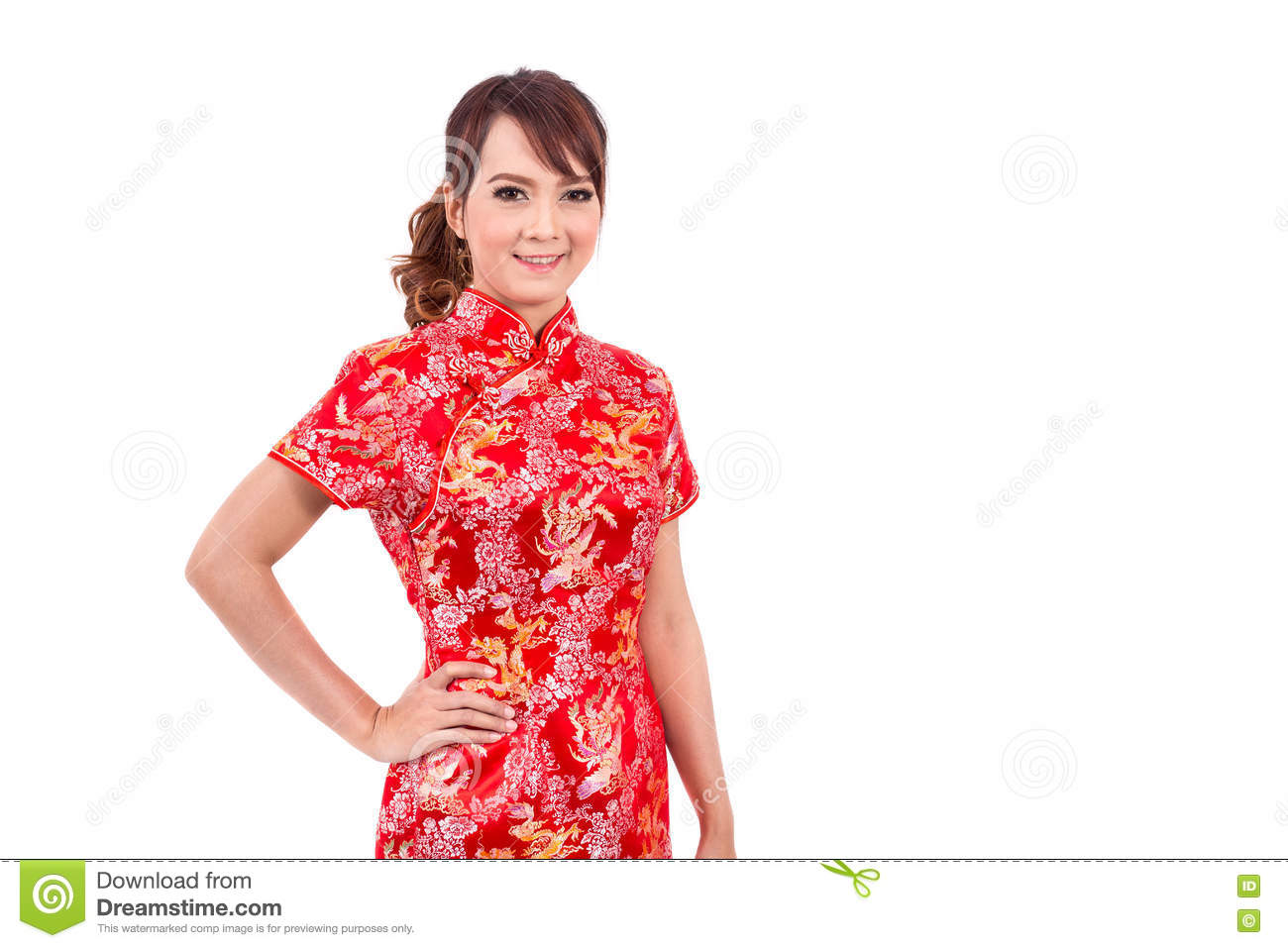 Asian chinese girl greeting in traditional chinese stock image asian chinese girl greeting in traditional chinese m4hsunfo