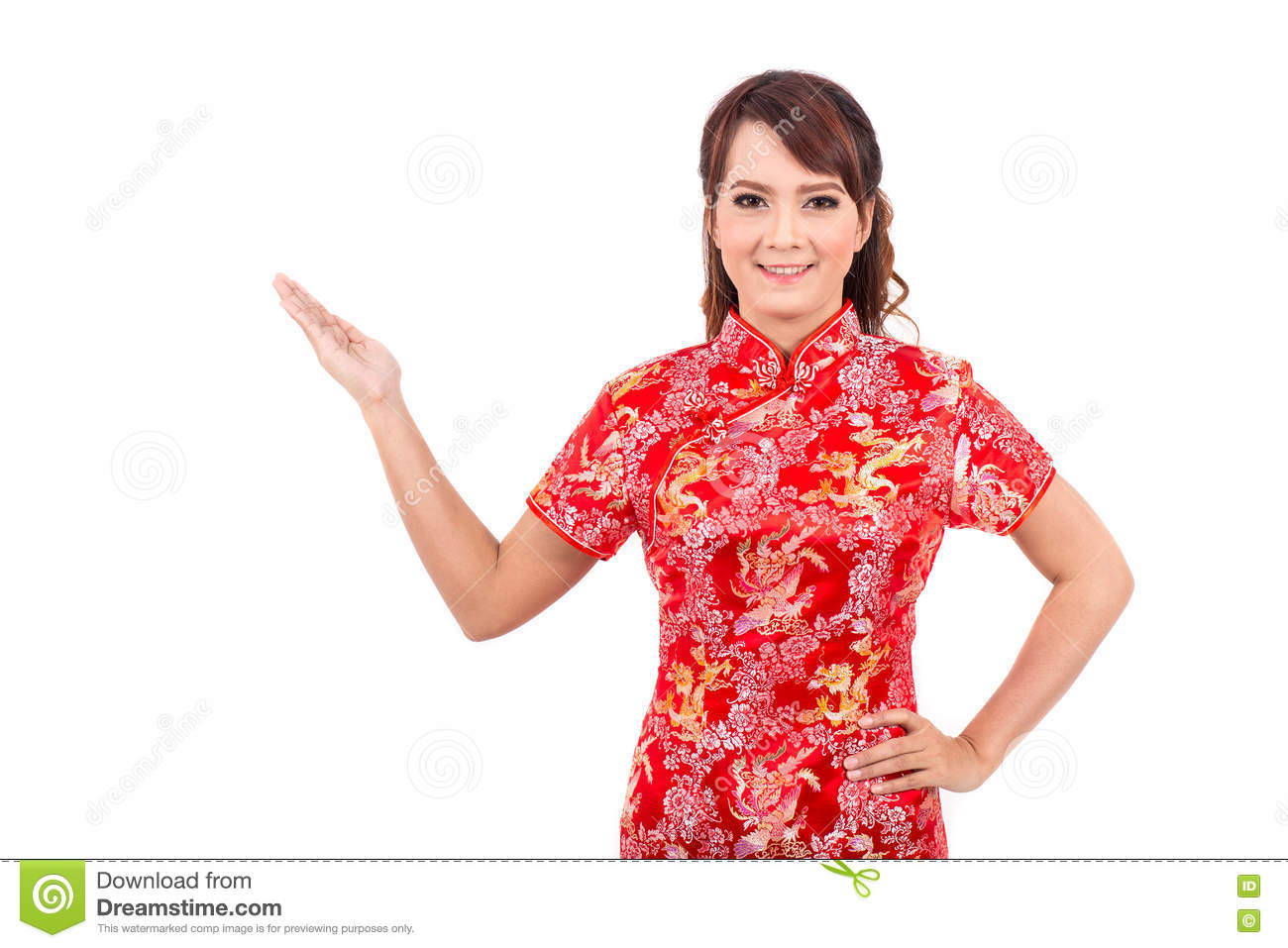 Asian chinese girl greeting in traditional chinese welcome stock download asian chinese girl greeting in traditional chinese welcome stock image image of background m4hsunfo