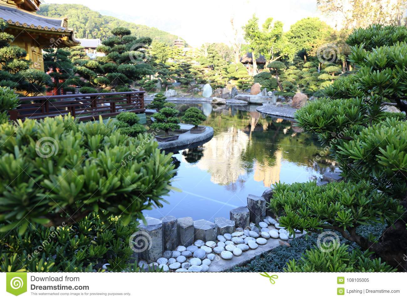 Download Chinese Style Garden Stock Image. Image Of Chinese, Beautiful    108105005