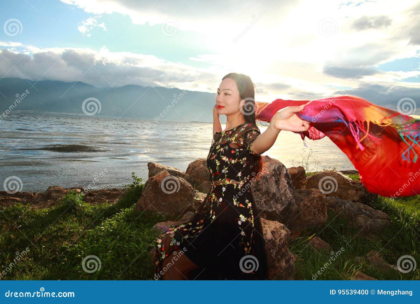 coast woman Sunshine asian