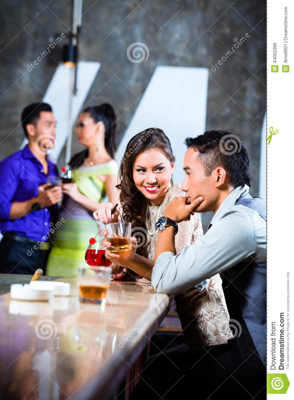 Wife Flirting In Nightclub