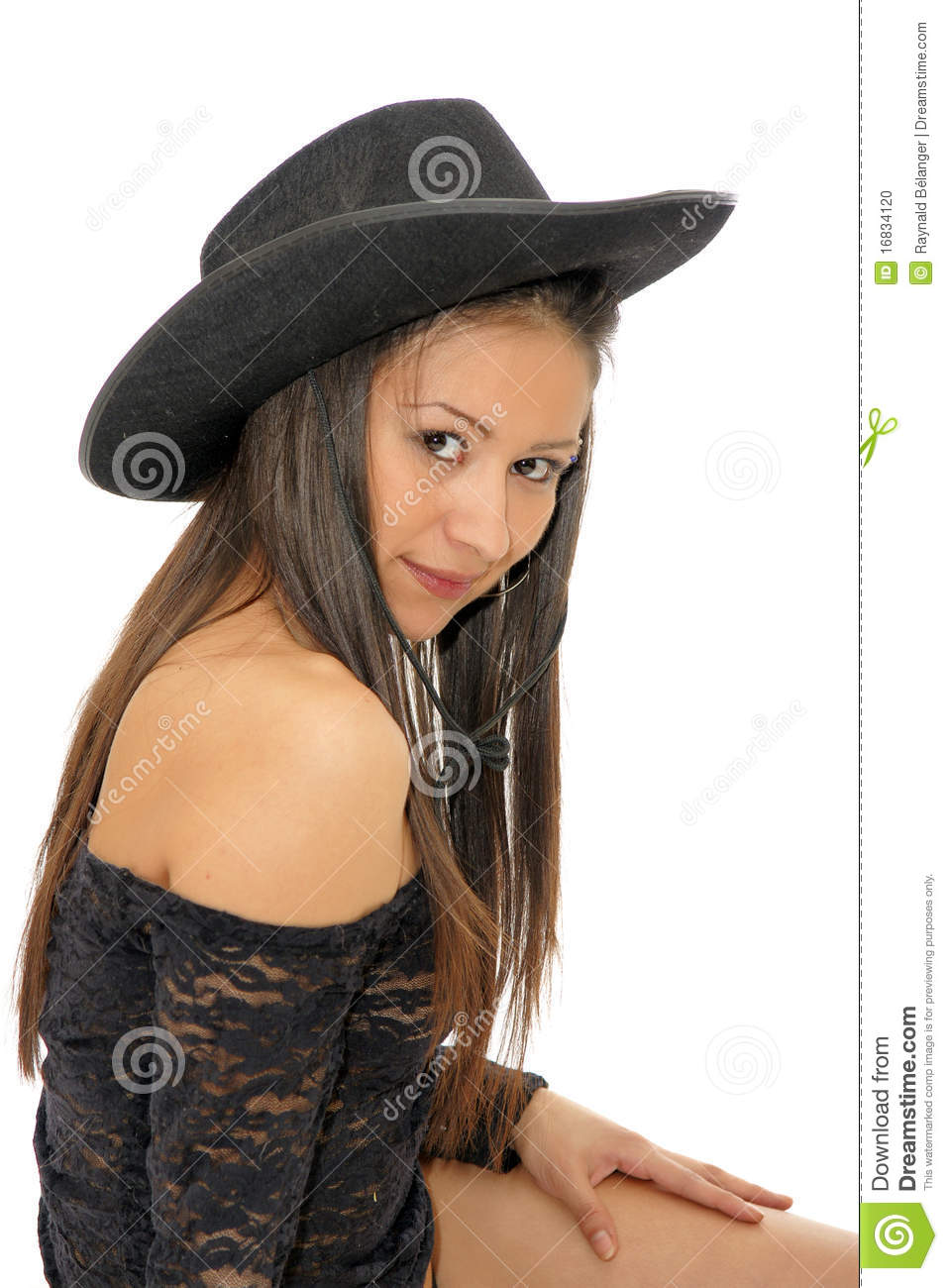 Asian Cowgirl Stock Photo Image 16834120