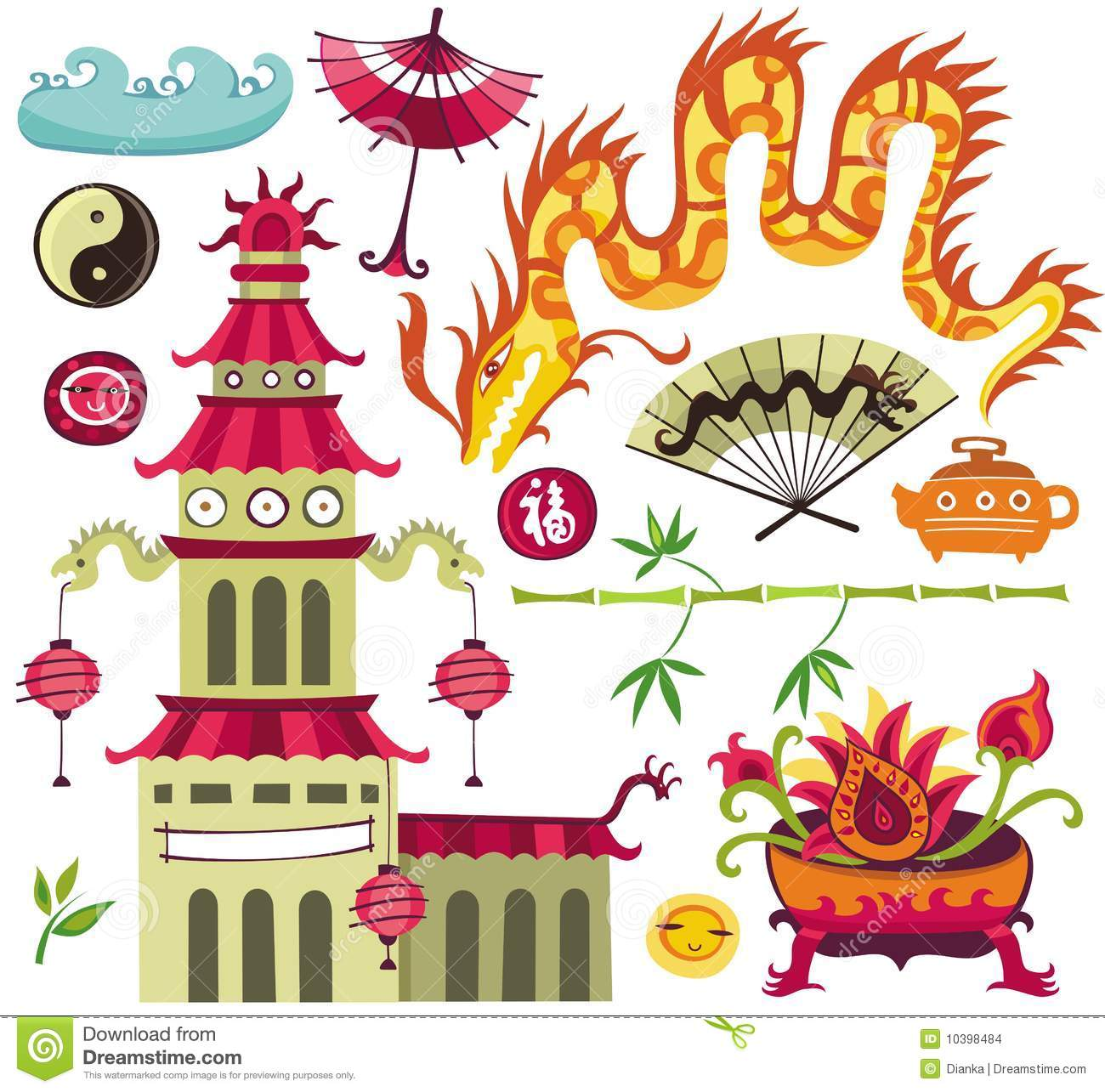 asian design elements stock images image 10398484