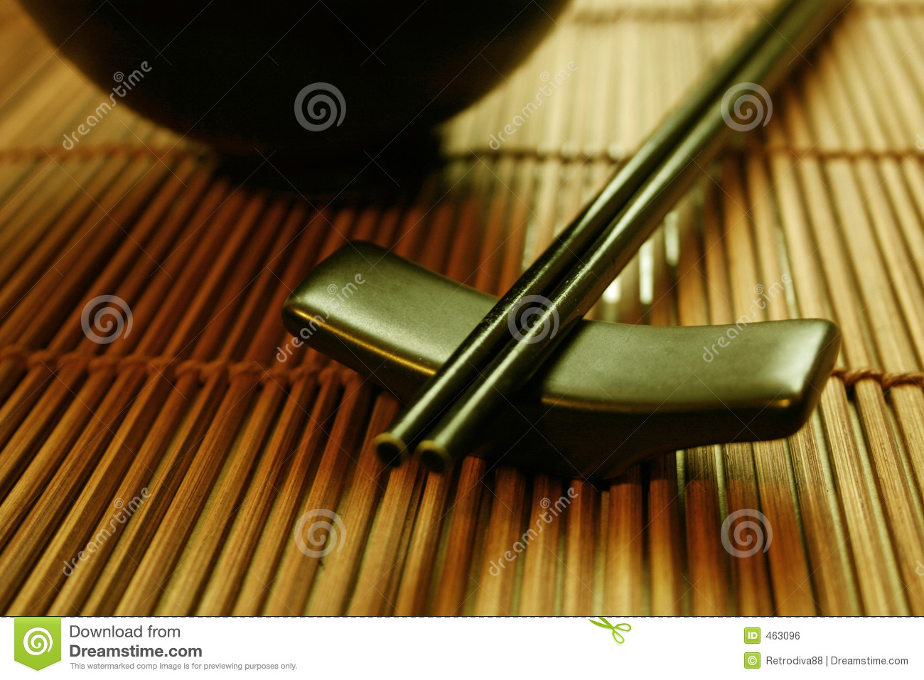 Asian Dining Set - Chopsticks and Bowl