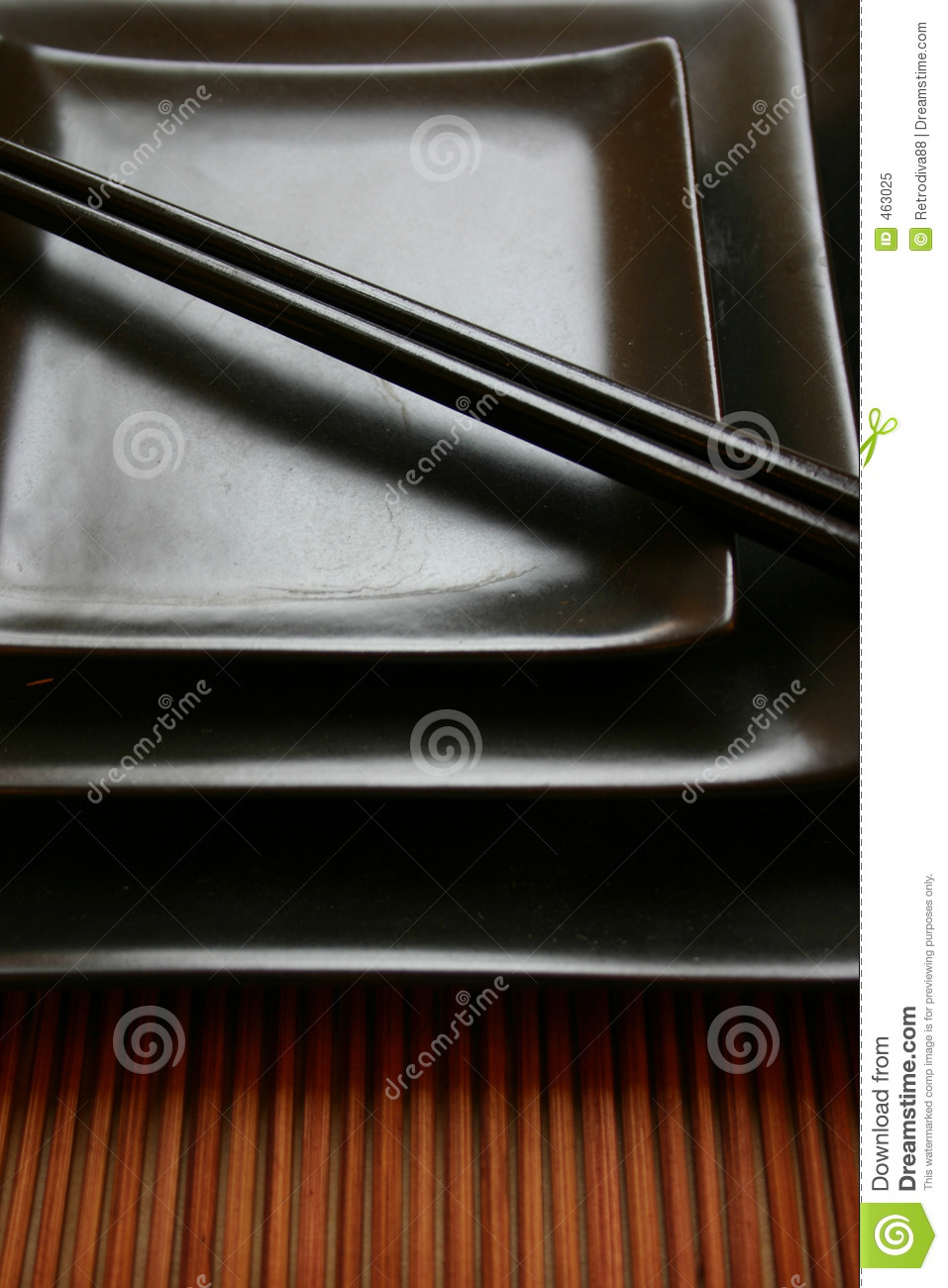 Download Asian Dining Set - Sushi Platters Stock Image - Image of rattan, plate: 463025