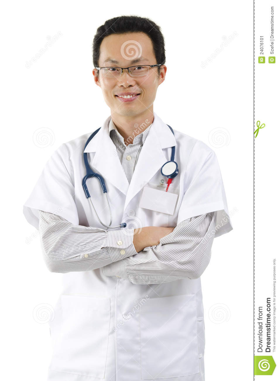 Asian male doctor remarkable, rather