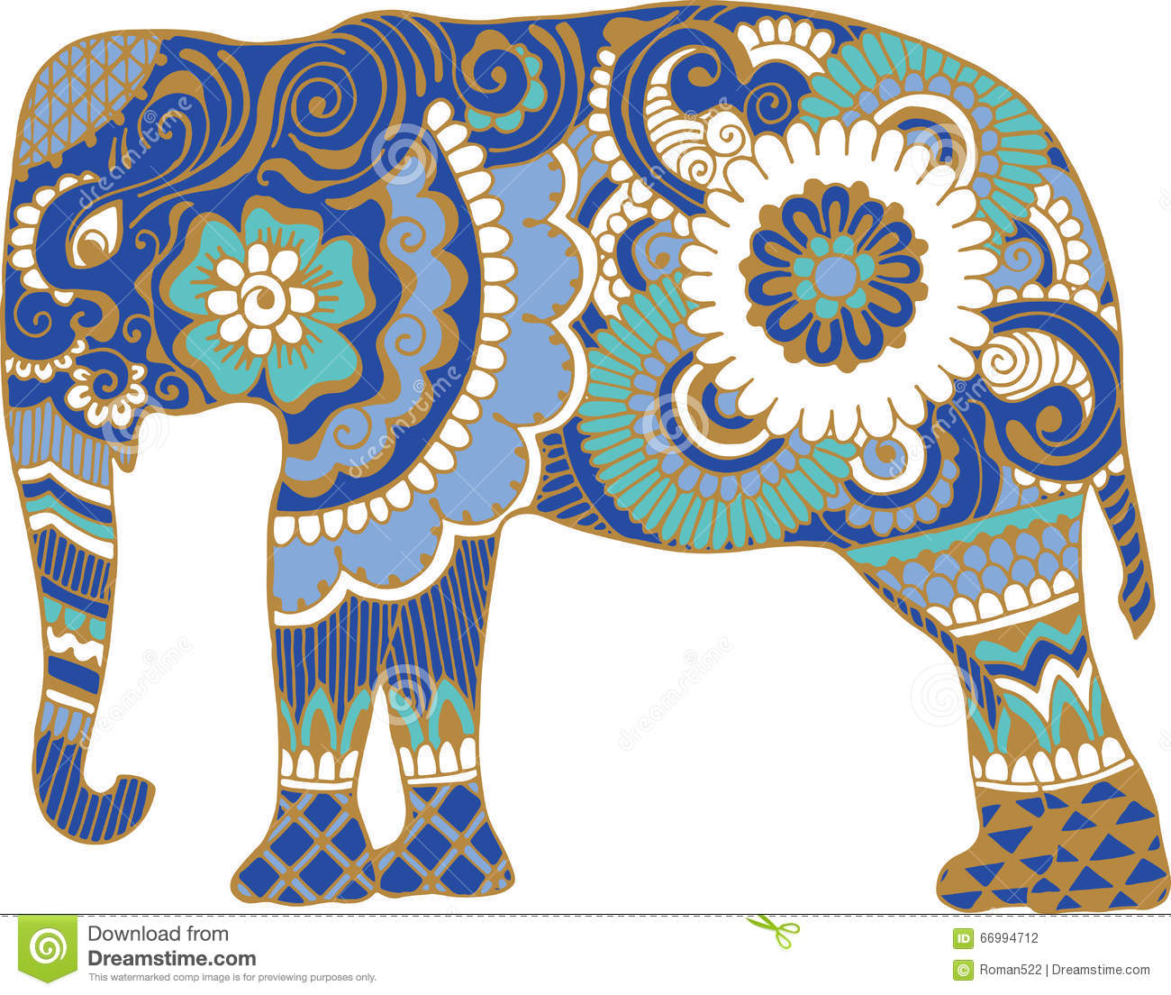 Asian Elephant With Pa...