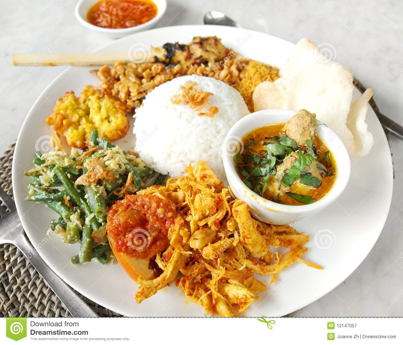 Asian ethnic food nasi campur royalty free stock for Asia asian cuisine