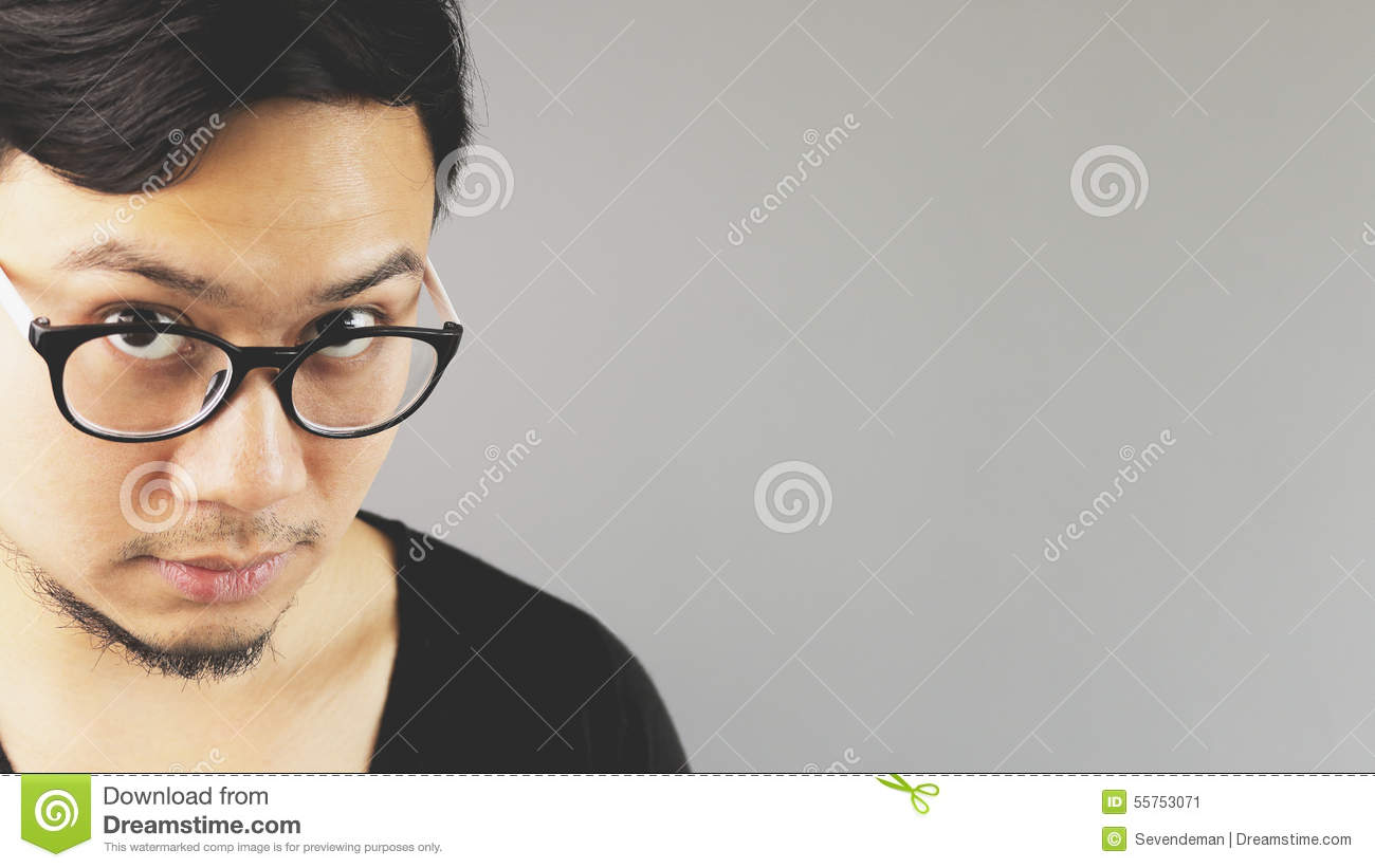 Asian eyeglasses man.