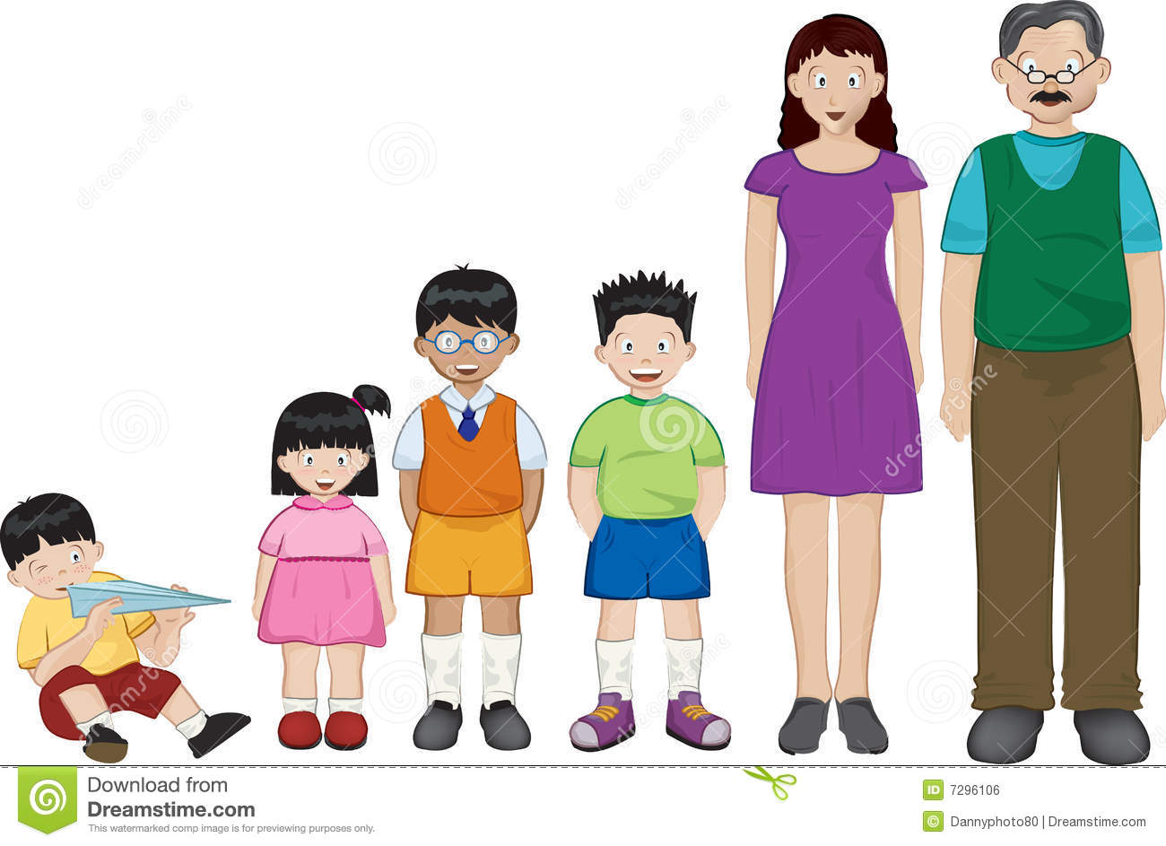 Nuclear Family Clipart Asian family Royalty Free