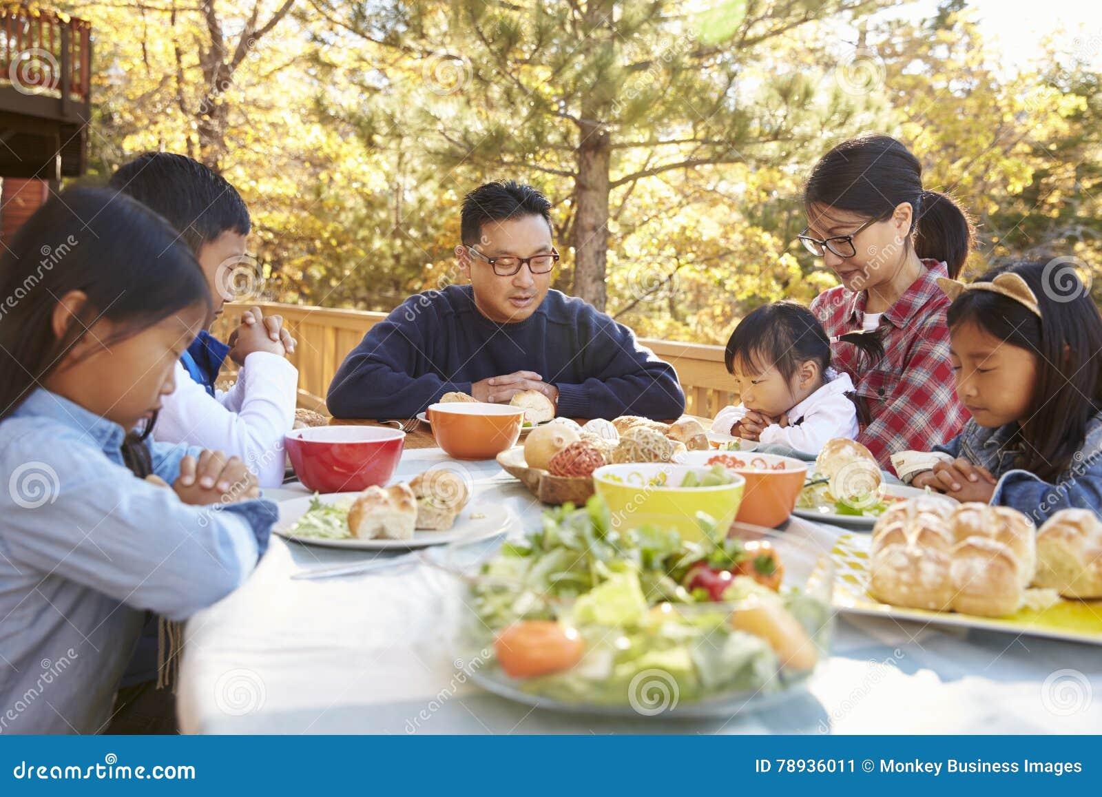 Asian prayer eating images
