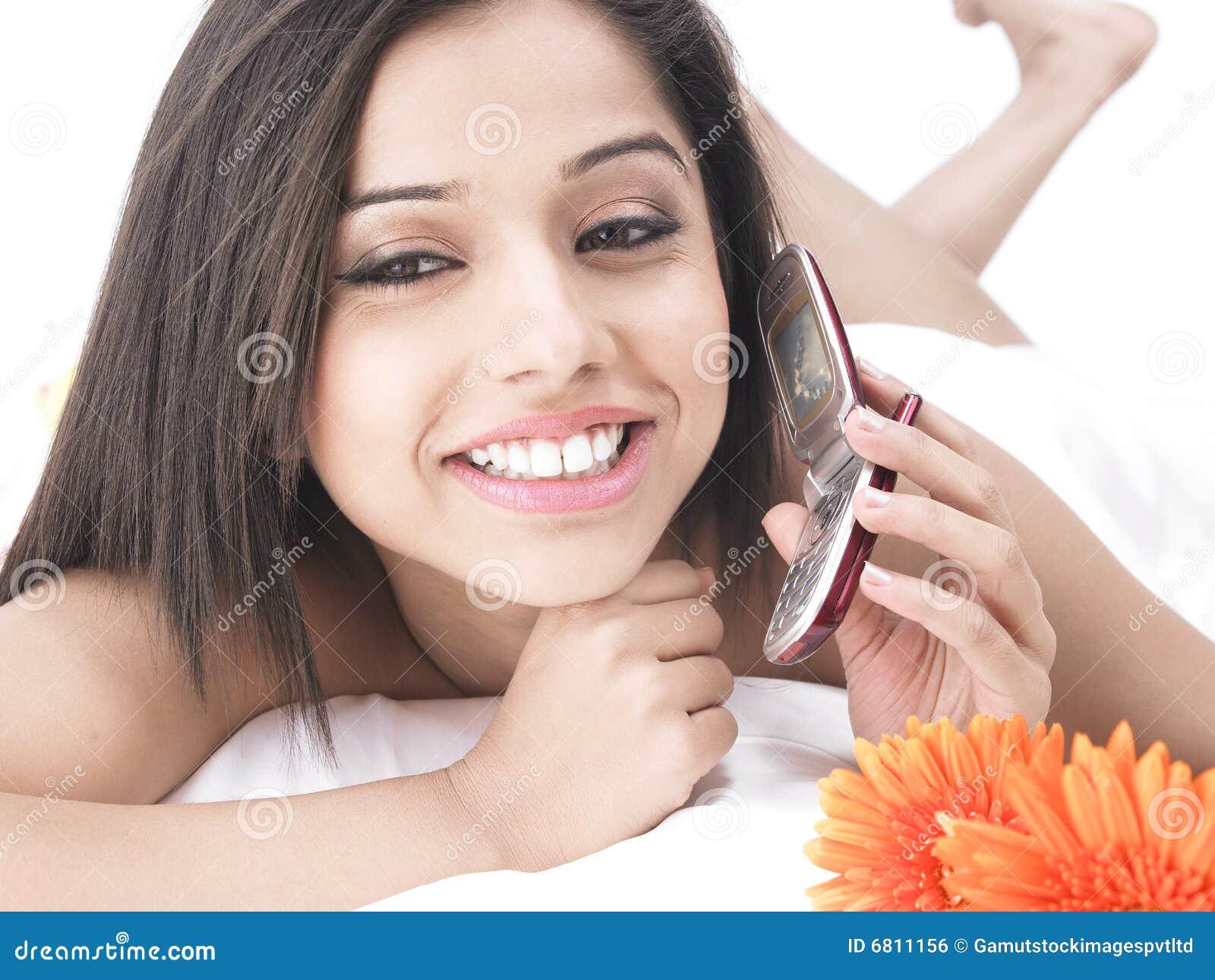 Asian Woman In Bed With Petals Stock Photography  Cartoondealercom 6811286-4469