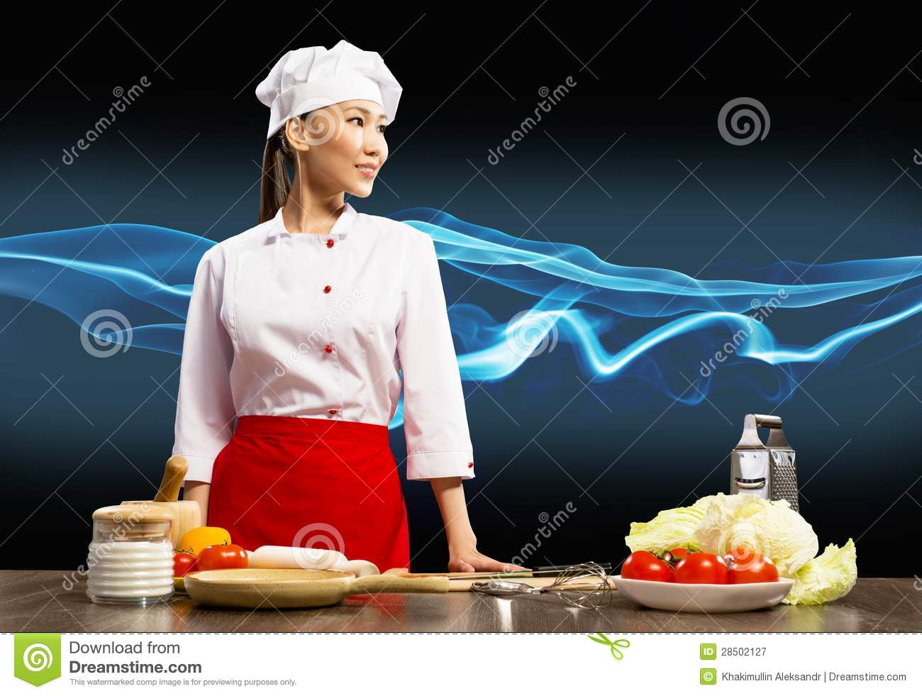 asian female chef royalty free stock photography   image