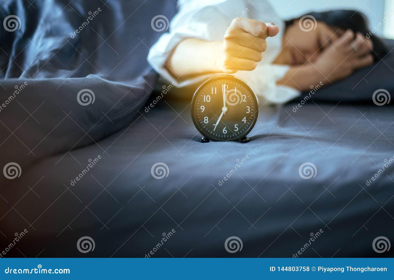 Asian Female Hate Getting Stress Waking Up Early 7 O`clock