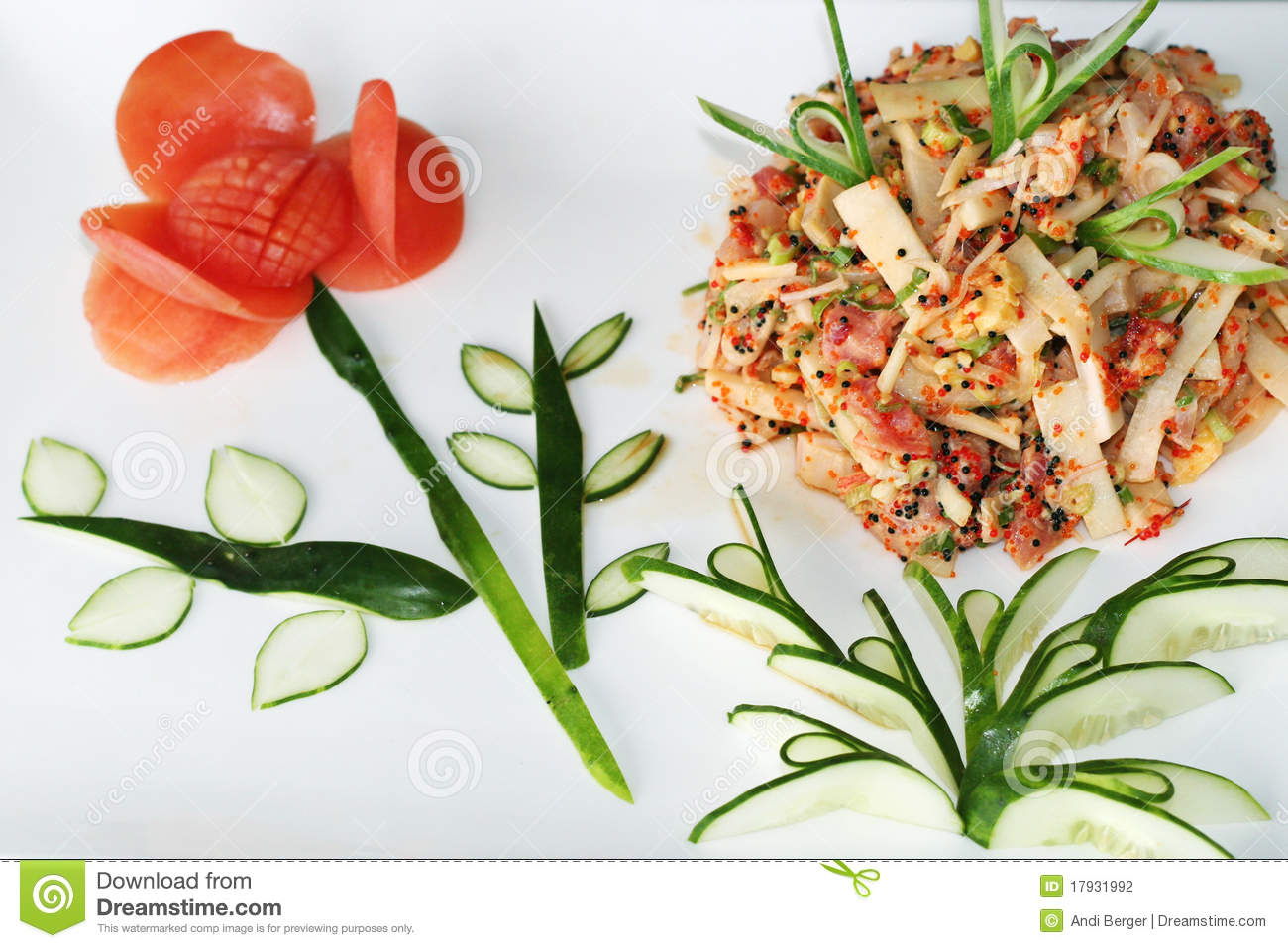Asian fish salad
