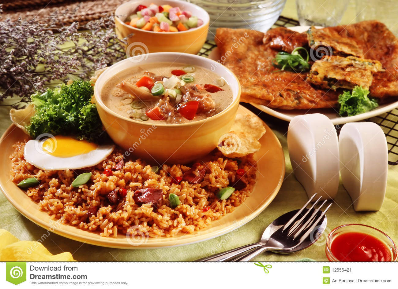 Asian food stock image image 12555421 for Asia oriental cuisine