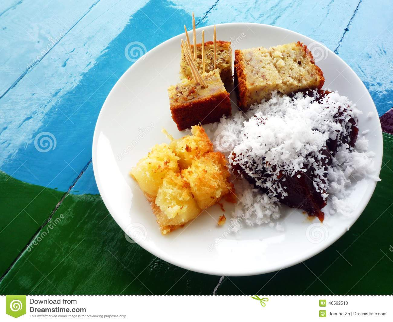 Asian food - cakes and dessert