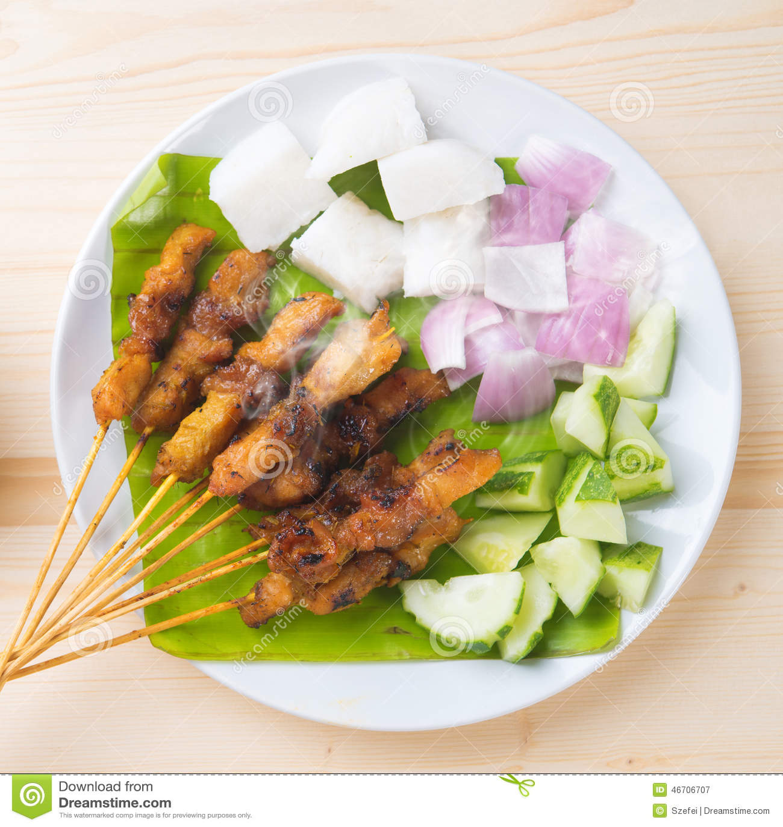 Asian food chicken satay