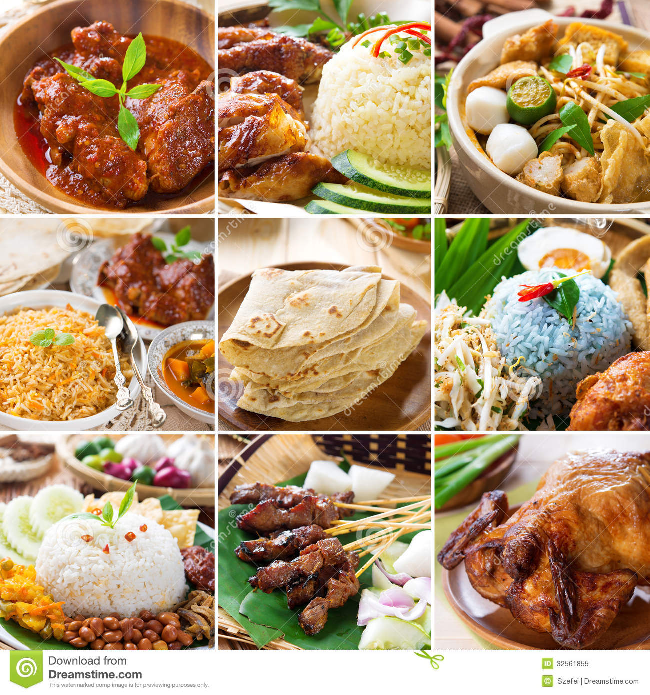 Asian food collection stock image image of collage for Asia oriental cuisine