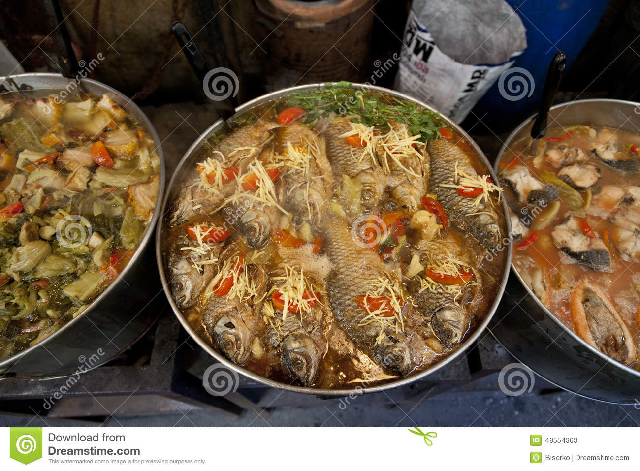 Asian food stock photo image 48554363 for How to cook a fish