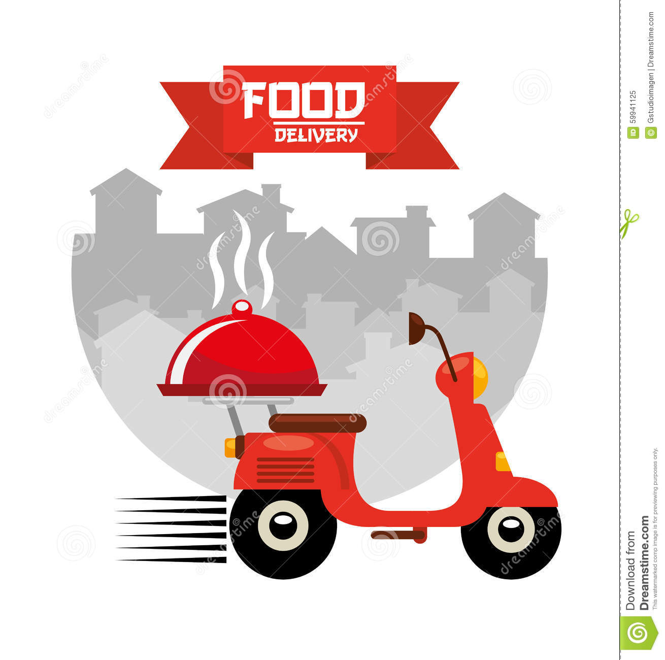 Asian food delivery stock vector image 59941125 for Asian cuisine delivery