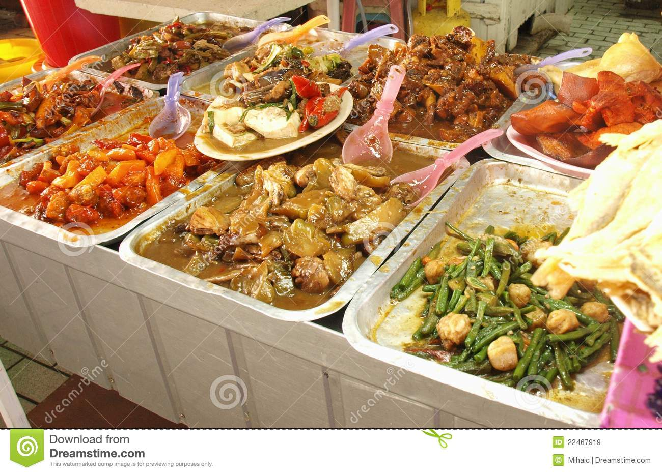 Asian food on display royalty free stock images image for Asia asian cuisine