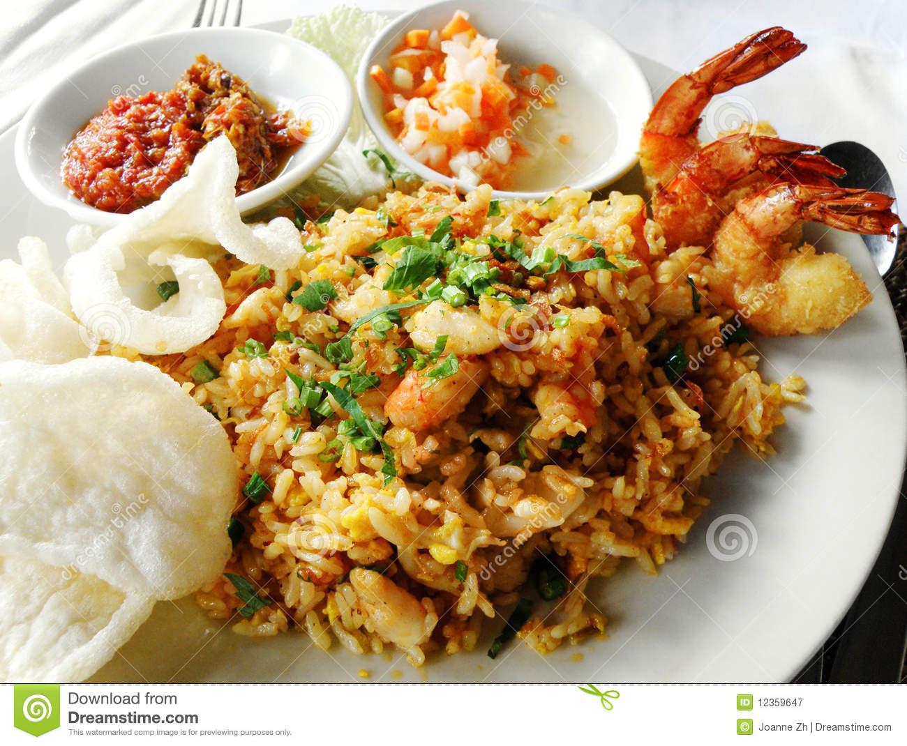 Asian food fried rice with seafood royalty free stock for Asia asian cuisine