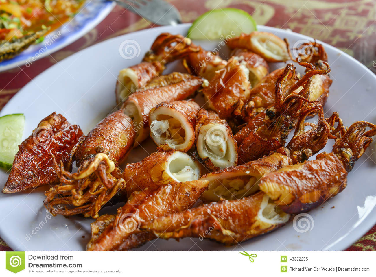Asian food fried rice with seafood stock image image of for Asia oriental cuisine