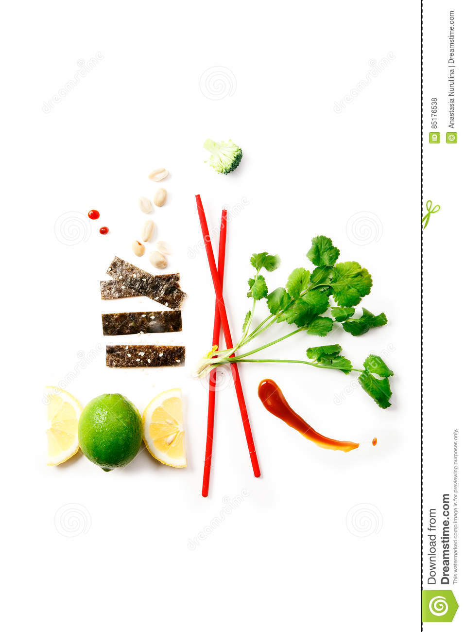 Asian food ingredients stock photo for Asian cuisine ingredients