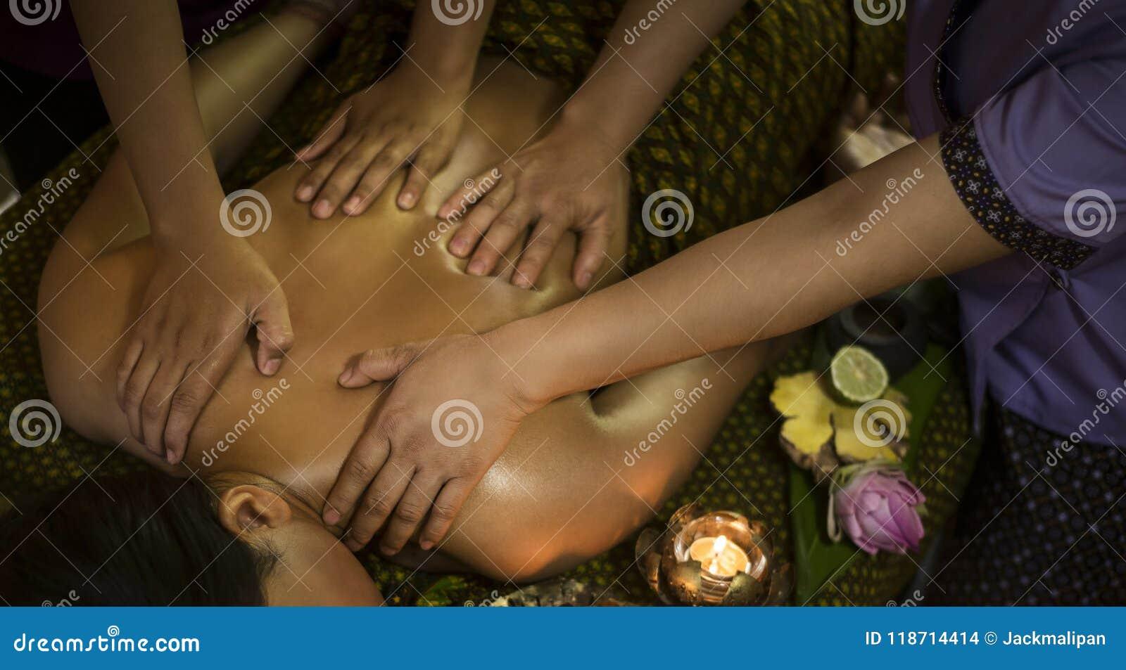 Four hands asian massage